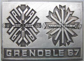 1967 Grenoble plaque pré olympiques