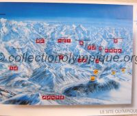 1992 Albertville Olympic poster venues map 50 X 70 cm