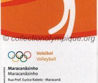 2016 Rio billet d'entrée olympique session volleyball du 15 Août