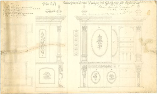 small resolution of design proposal for a secretaire from the timbers of resolute 1850