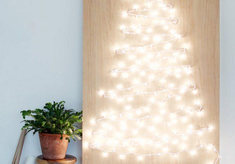 Diy String Light Christmas Tree Collective Gen
