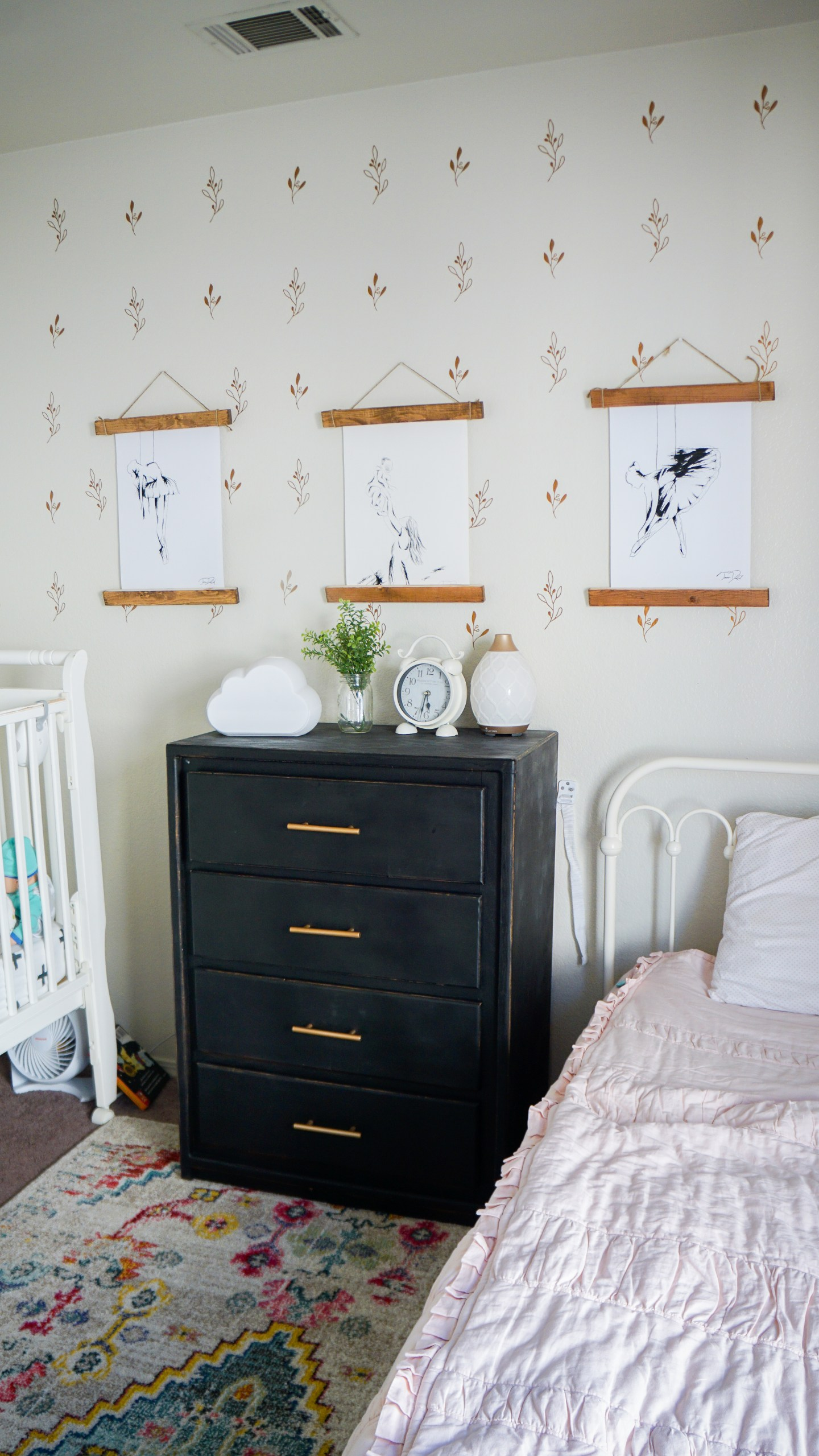 Toddler Girl Shared Modern Bohemian Bedroom - Collectively Casey
