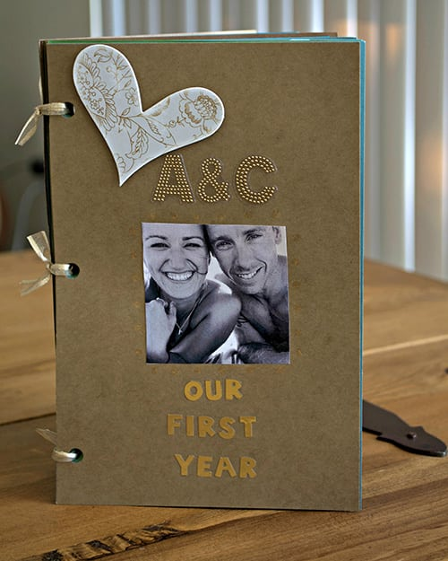 DIY One Year Anniversary Scrapbook