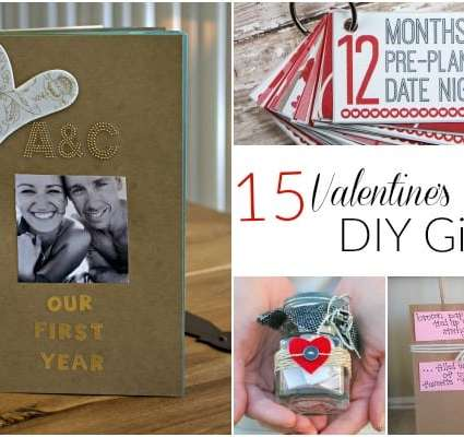 15 Valentine's Day DIY gifts