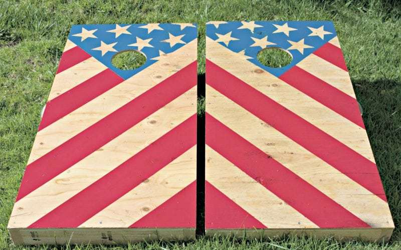 DIY American Flag Corn Hole