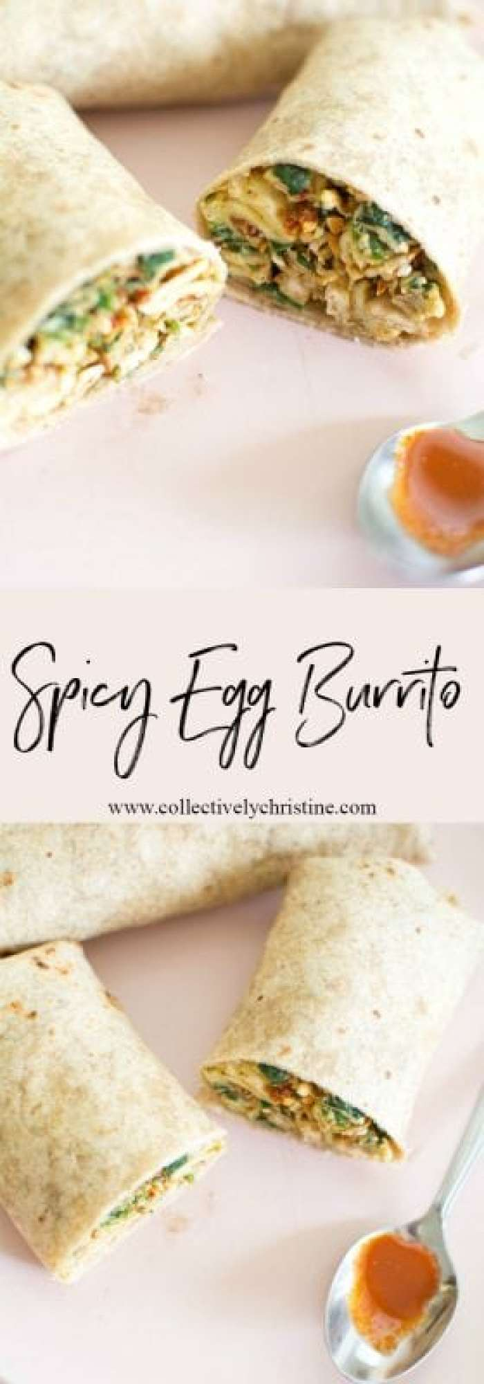Spicy egg burrito made with @Eggland's Best eggs! Great for meal prep and making ahead to save time in the morning.