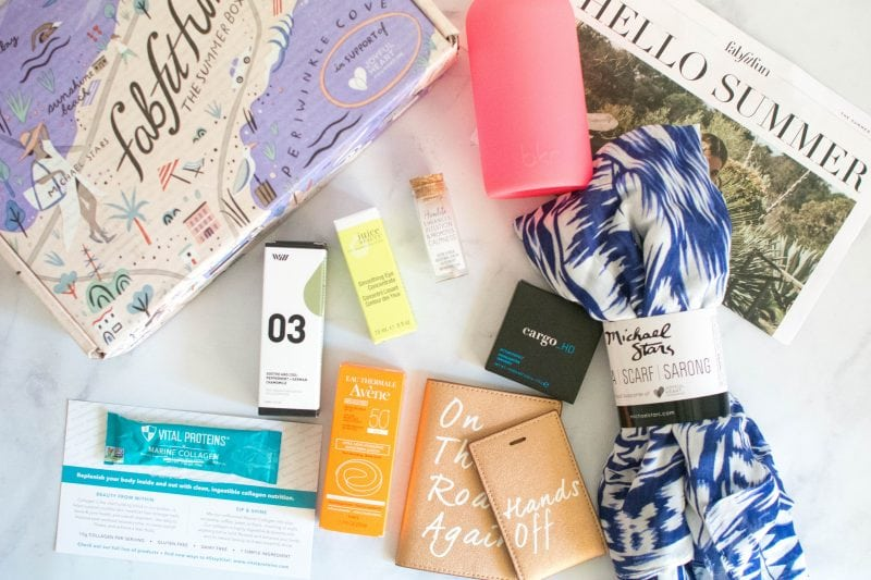 FabFitFun summer 2017 review and unboxing