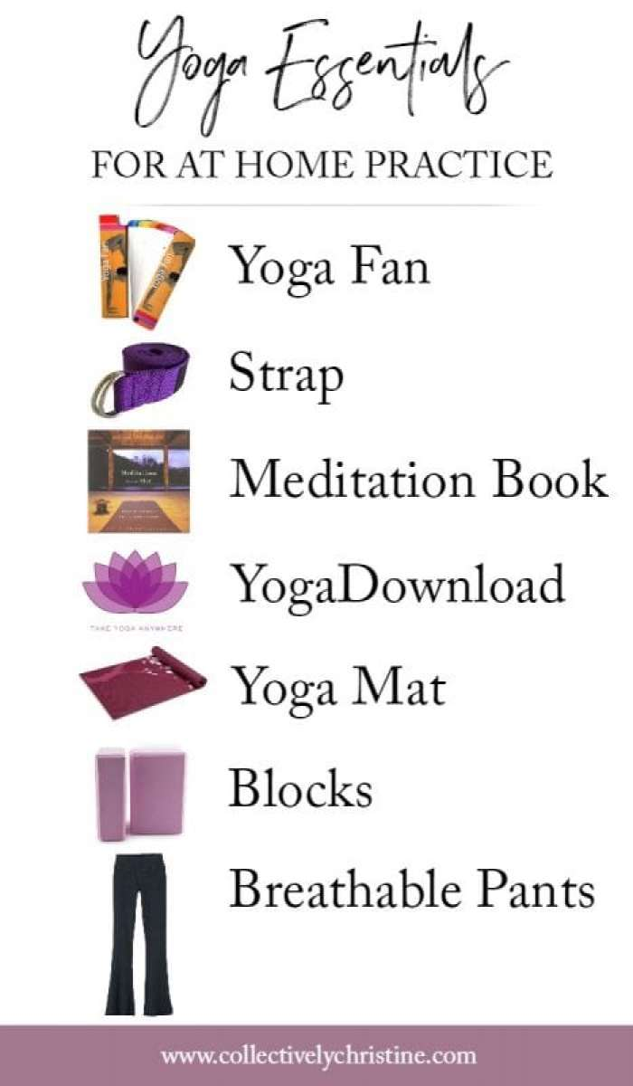 yoga essentials for at home practice