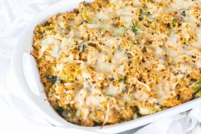 Turkey and Brussels Sprout quinoa casserole
