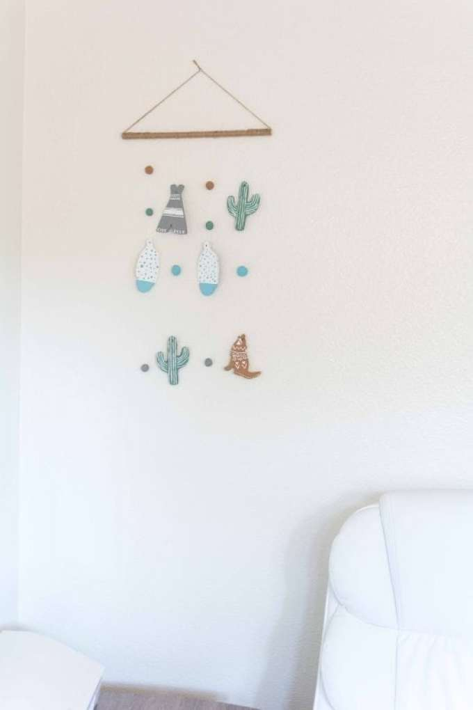 southwestern inspired wall hanging mobile