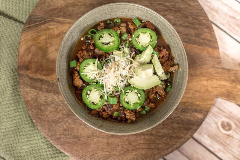 low carb turkey chili keto