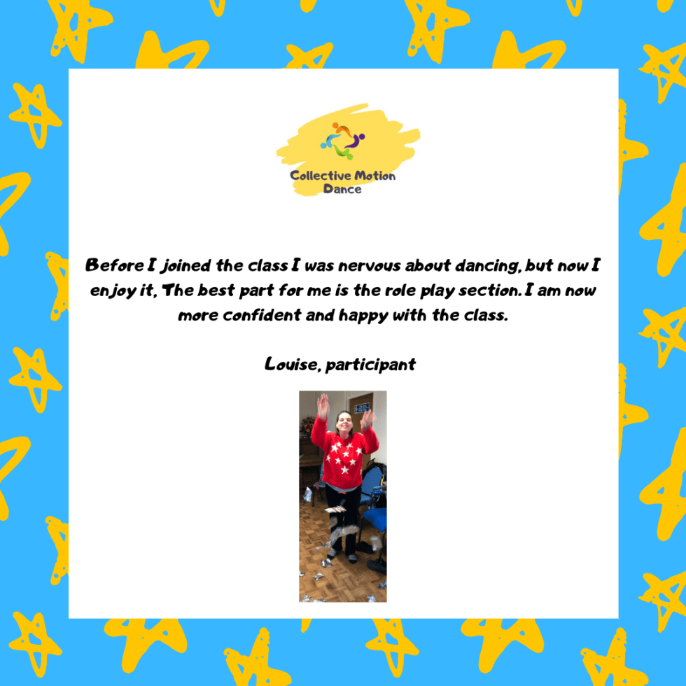 Learning Disability Dance Class Participant Testimonial