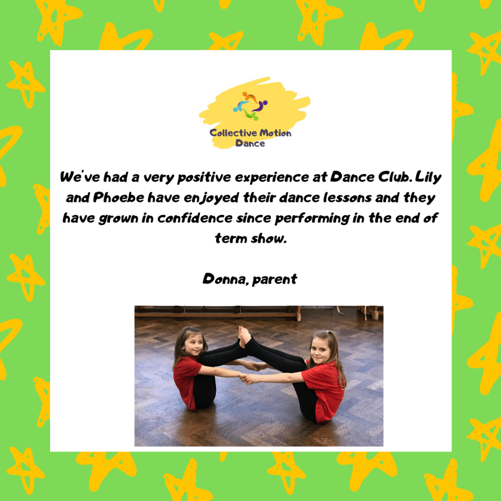 Primary School Dance Club Parent Testimonial