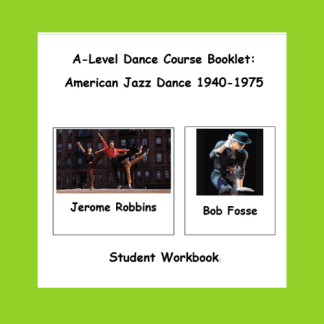 American Jazz Dance Student Workbook Cover