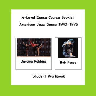 American Jazz Dance Student Workbook Cover