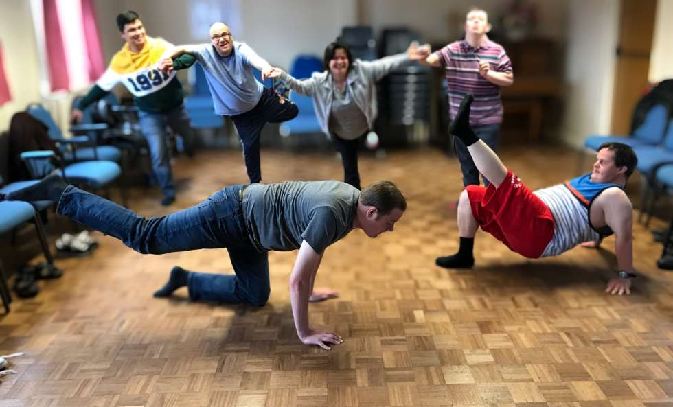 Group balance shape by adults with additional needs