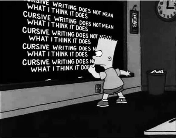 cycle 3 task 03, Klaus Killisch, Cursive writing does not mean what I think it does
