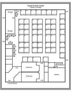 Toyota Events Center Floorplan