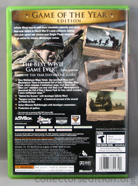 Call Of Duty 2 Game Of The Year Edition 360 NTSC