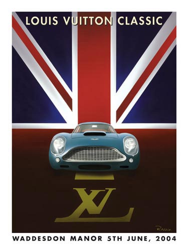 2004 louis vuitton classic waddesdon manor event poster by razzia
