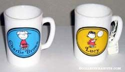 Charlie Brown and Lucy Toiletry Mugs