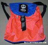 Joe Cool Knott's Berry Farm orange & blue vinyl Backpack