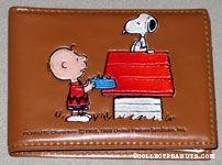 Charlie Brown bringing dinner to Snoopy Wallet