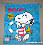 Snoopy with innertube and Woodstock drawstring Beach Bag