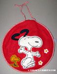 Snoopy dancing with Woodstock Pajama Bag
