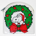 Snoopy in wreath Coin Purse