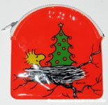 Woodstock in nest with Christmas Tree Coin Purse
