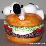 Snoopy on Hamburger