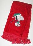 Snoopy with Christmas Lights Towel