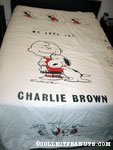Snoopy hugging Charlie Brown Bedspread