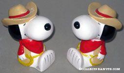 Cowboy Snoopy Bookends