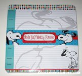Snoopy Mousepad and Weekly planner