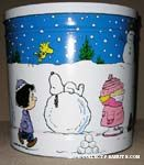 Peanuts Gang Winter Scene Tin Canister