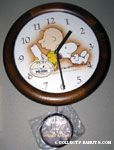 Snoopy & Charlie Brown sitting and reading Pendulum Wall Clock