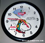 Snoopy Flying Ace Time of Day Wall Clock