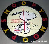 Snoopy running Wall Clock