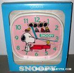 Snoopy playing piano with Peanuts Gang Wall Clock