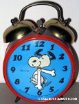 Snoopy Dancing Alarm Clock - Red & Turquoise