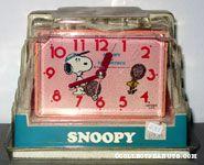Snoopy & Woodstock playing tennis Alarm Clock