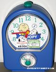 Snoopy & Charlie Brown leaning on banner Alarm Clock