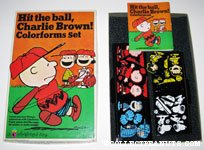 Hit the ball, Charlie Brown! Colorforms Set
