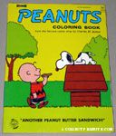 Charlie Brown bringing Snoopy a peanut butter sandwich Coloring Book