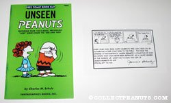 Unseen Peanuts with letter from Jean Schulz