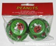 Snoopy looking in pumpkin Halloween Mini Cupcake Liners