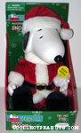 Animated Santa Snoopy Plush