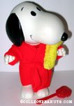 Snoopy with Bathrobe, Brush and Towel Doll